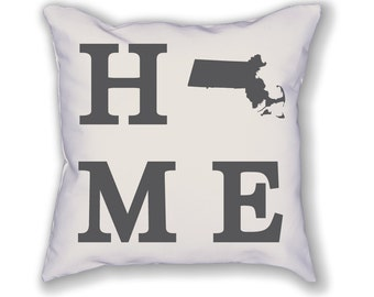 Massachusetts Home State Pillow