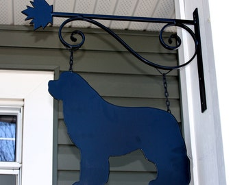 Newfoundland Dog Wrought Iron Hanger