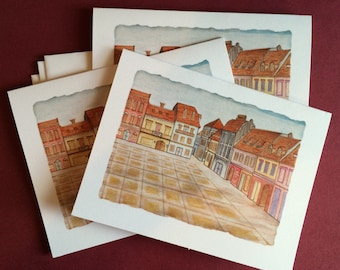 Blank Note Card Set - Set of 3 - Brasov, Romania-  All Occasion Card