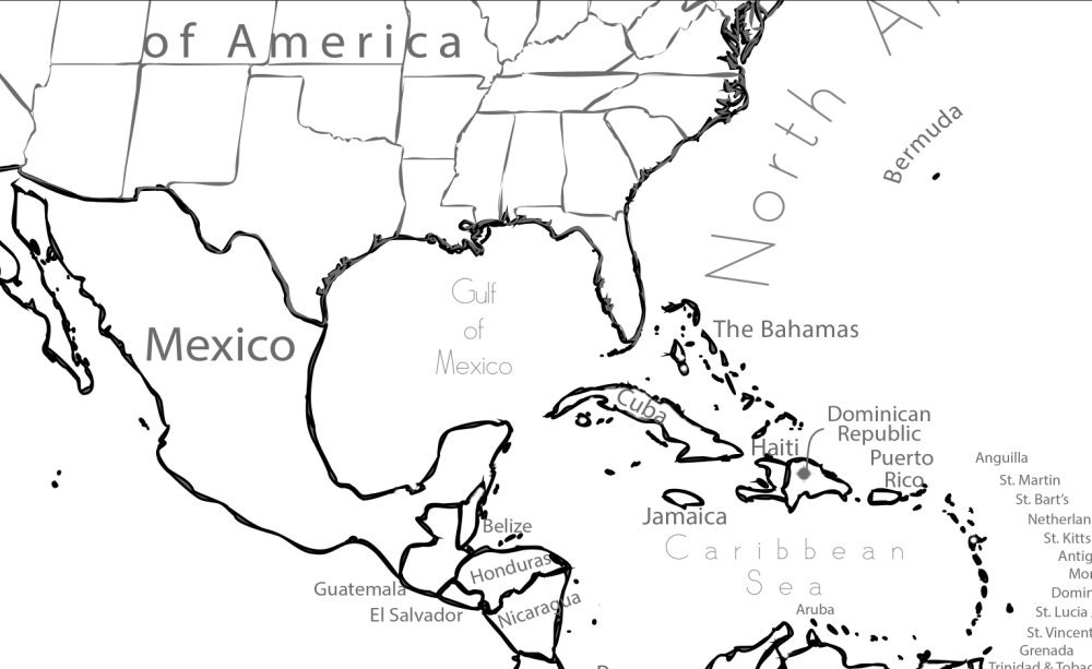 Dominican republic map coloring sheet coloring pages for Dominican republic coloring pages