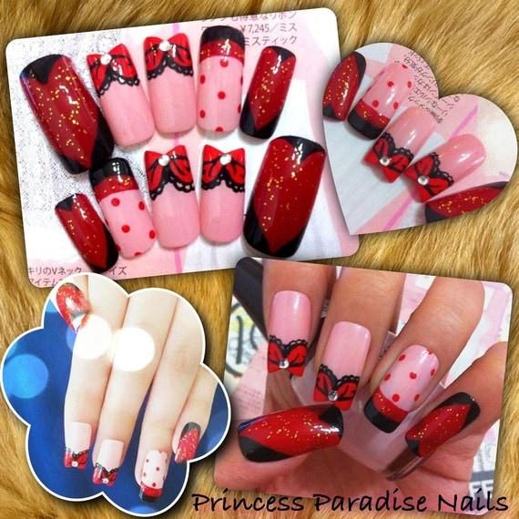 Princess Acrylic Nails: Princess Paradise Nails Fake False Art By PrincessParadiseNail