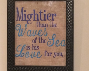 Embroidered Bible Verse