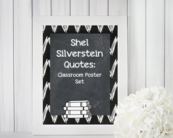 Shel Silverstein Quotes Classroom Poster Set