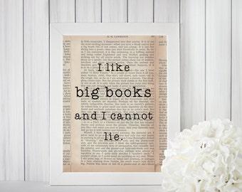 I Like Big Books digital print