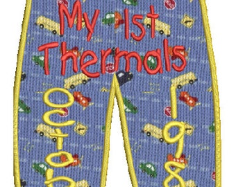 baby thermal pants applique machine embroidery design,4 sizes,9 formats(dst,exp,jef,hus,pes,vip,vp3,sew,xxx), instant download, 1 zip file