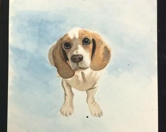 Custom 8x8-inch Pet Watercolor