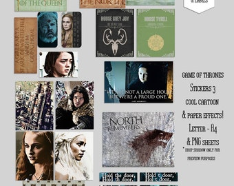 Game of Thrones Printable Stickers 3