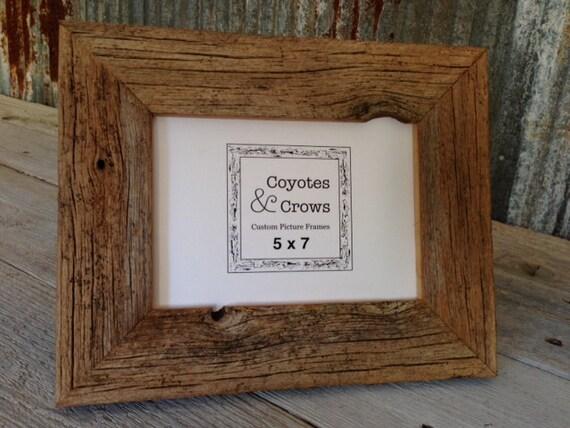 5x7 Photo Frame Rustic Reclaimed Cedar Barn Wood Table