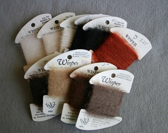 Rainbow Wisper Ten assorted Earth tone  20 yard cards