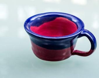Blue red mug
