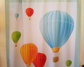 Hot Air Balloon Shower Curtain, FREE SHIPPING