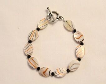 Orange and Black Bracelet