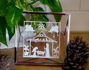 Nativity Papercut Template