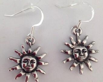 Dangly Sun Earrings