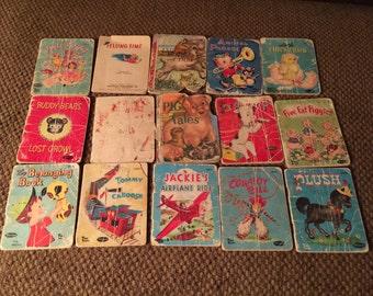 Lot of 15 Whitman Tiny Tales Books.