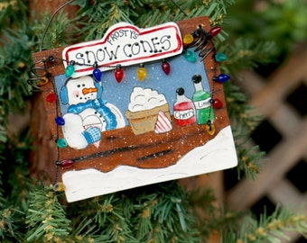 Christmas Ornament-Snow Cone Shop