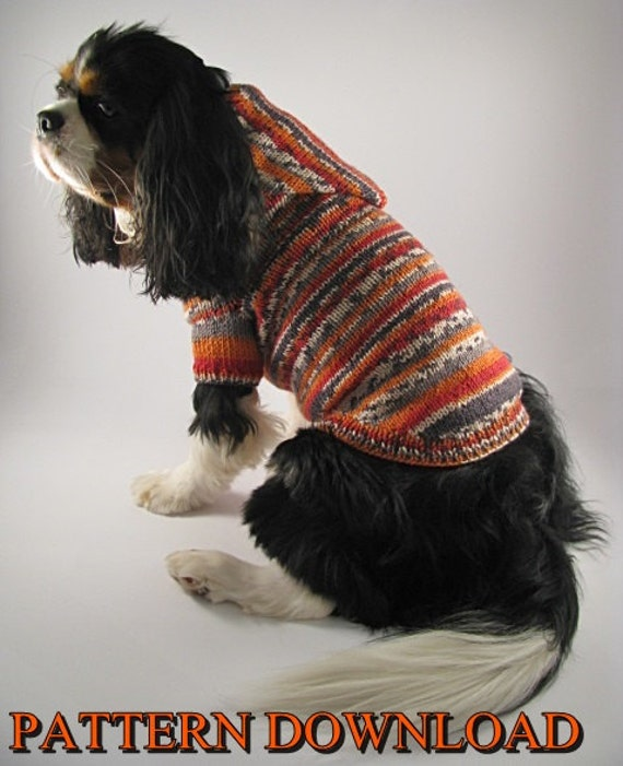 Knitting Patterns For Dog Hoodies : Dog hoodie pattern Dog sweater pattern Dog by DesignedForDog