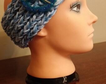 Blue headband/earwarmer