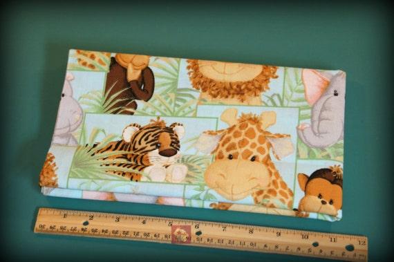 1 yard nursery fabric jungle babies patch new for Safari fabric for nursery