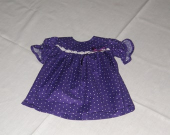 Purple/White Polka Dot Dress and Bloomers.