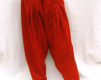 Indian harem pants, unisex trousers, Red Indian trousers, ethnic pants, wide trousers, Indian Crafts