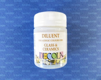 "DILUENT GLASS CERAMICS Acrylic Colours ""Decola"" 50ml Russian Nevskaya Palitra"