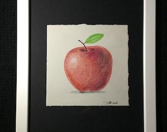 Mini Drawing #6 - Red Apple