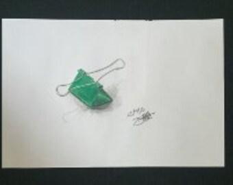 Drawing - Green Clip