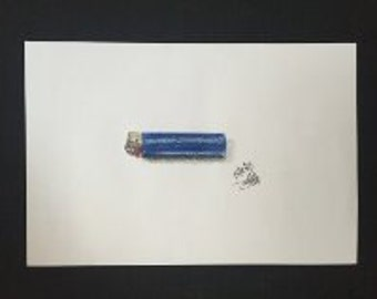 Drawing - Blue Lighter