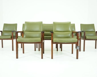 306-215 SALE! Danish Mid Century Modern Rosewood Arm Office Desk Chair (5)