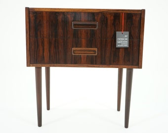 305-126 Danish Mid Century Modern Rosewood Night Stand Bedside Table