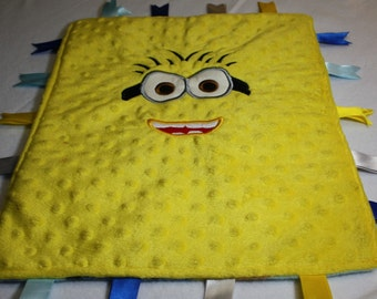 Embroidered Minion Blanket with tabs
