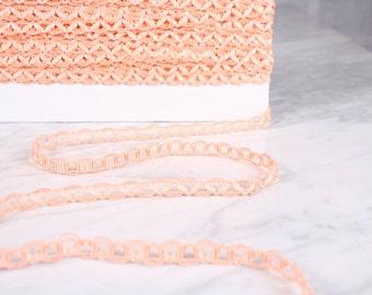 5 m Ribbon 10mm, polyester, salmon (0390)