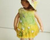 "CUSTOM ORDER Summer Meadow yellow dress  for doll Kish Riley, Bratz, Little Darling 13"" Effner, Paola Reina 13"""