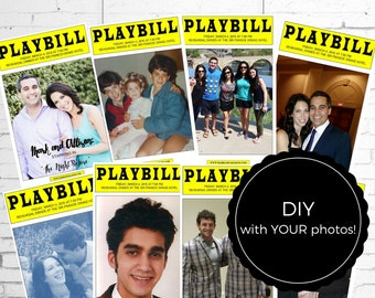 PLAYBILL Broadway CENTERPIECES - DIY Template - Digital File