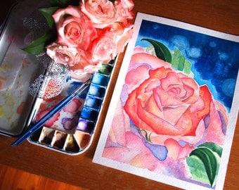 "Enchanted - Original Watercolor Painting 9""x12"""