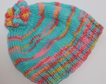Baby Cap Knitted Multi Color