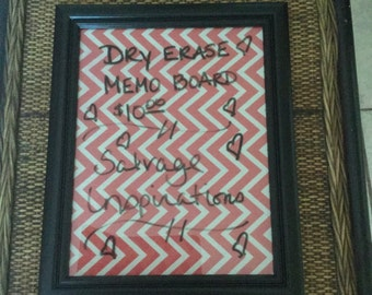 Chevron Dry Erase Message Board