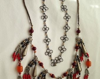 Victorian Antique Vintage Necklace Rare Handcrafted Excellent Condition
