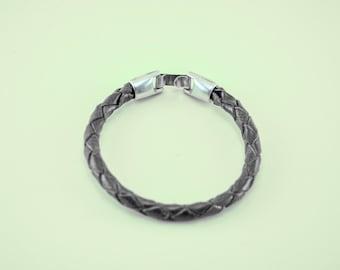 55. braided leather bracelet
