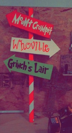 How The Grinch Stole Christmas Sign By Kandrcreation On Etsy