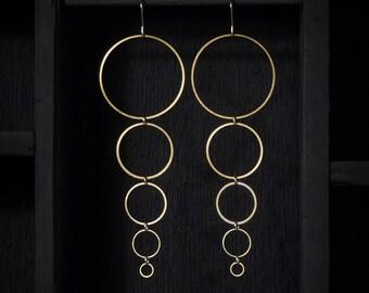 Brass Ring Earrings - Small