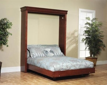 build your own queen sized murphy bed  diy plan  fun to build  save build your own futon diy plans fun to build save money  rh   etsy