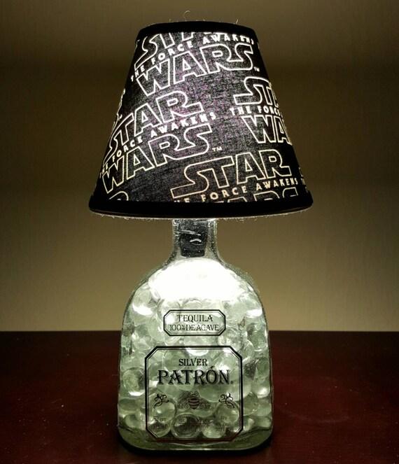 Handmade LED Star Wars vs. Patron Tequila Liquor Bottle Lamp