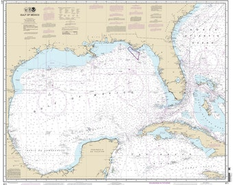2013 Nautical Map of the Gulf of Mexico