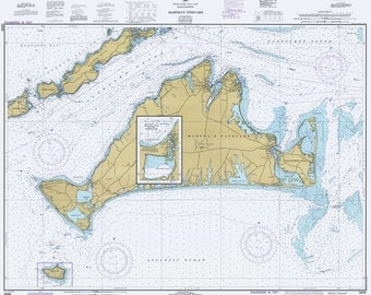 1981 Nautical Map of Marthas Vineyard Massachusetts