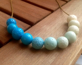 SALE - Shades of blue. Necklace. Free shipping.
