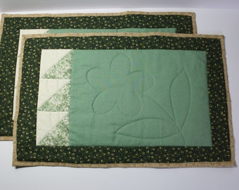 Two Quilted Placemats