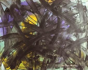 Chaos acrylic painting, art, original painting, acrylics