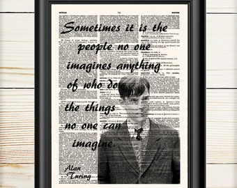 The Imitation Game, Movie Poster, Alan Turing, Literary Movie Print, Dictionary Art, Home Office Decor, 069